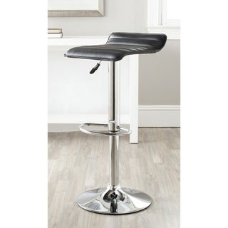 Safavieh Kemonti Black Adjustable Height Swivel Bar Stool