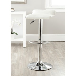 Safavieh Kemonti White Adjustable Height Swivel Bar Stool
