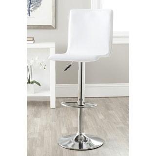 Safavieh Magda White Adjustable Height Swivel 23.2-29.5-inch Adjustable Bar Stool