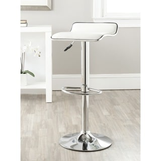 Safavieh 22.4-30.9-inch Chaunda White Adjustable Swivel Bar Stool