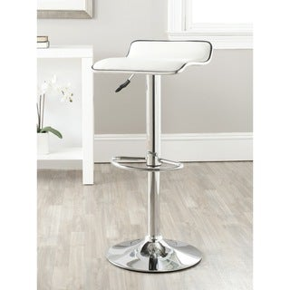 Safavieh Chaunda White Adjustable Height Swivel Bar Stool