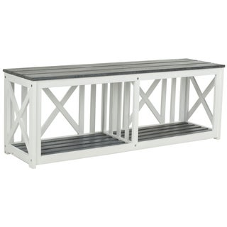 Safavieh Branco White/ Grey Outdoor Bench