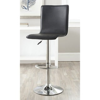 Safavieh Magda Black Adjustable Height Swivel 23.2-29.5-inch Adjustable Bar Stool