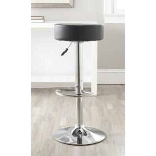 Safavieh Jute Black Adjustable Height Swivel 25.6-31.5-inch Adjustable Bar Stool