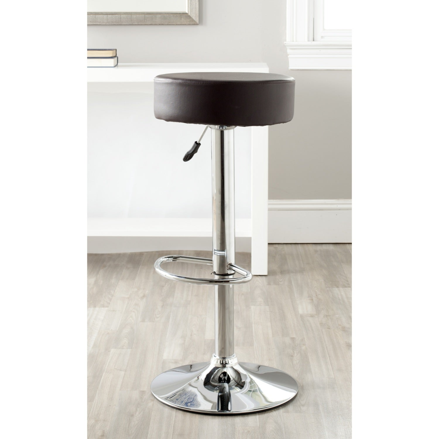 Safavieh Jute Brown Adjustable Height Swivel Bar Stool