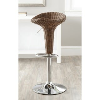 Safavieh Moesha Brown Adjustable Height Swivel Bar Stool