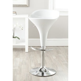 Safavieh Yatim White Adjustable Height Swivel Bar Stool