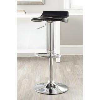 Safavieh Avish Black 23.6-32.1-inch Adjustable Height Swivel Adjustable Bar Stool