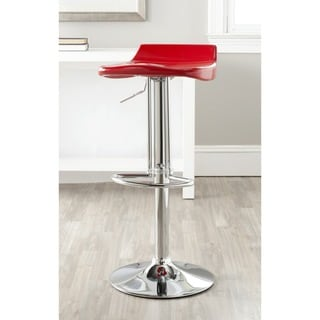 Safavieh Avish Red Adjustable Height Swivel Bar Stool