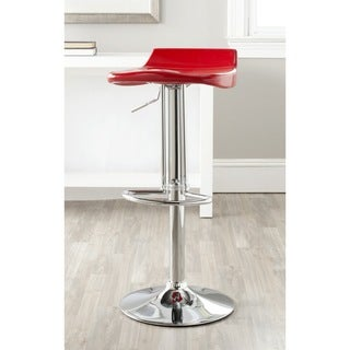 Safavieh Avish Red 23.6-32.1-inch Adjustable Height Swivel Adjustable Bar Stool