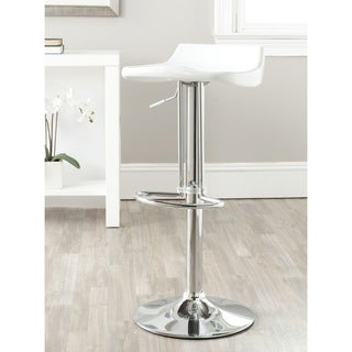 Safavieh Avish White Adjustable Height Swivel Bar Stool