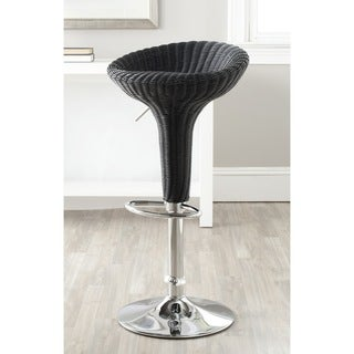Safavieh Monicka Black Adjustable Height Swivel 23.2-31.7-inch Adjustable Bar Stool