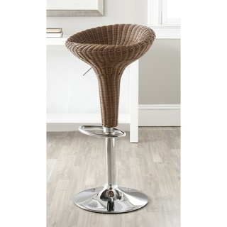 Safavieh Monicka Brown Adjustable Height Swivel Bar Stool
