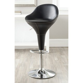 Safavieh Reptone Black Adjustable Height Swivel Bar Stool
