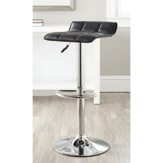 Safavieh Lamita Black Adjustable Height Swivel Bar Stool