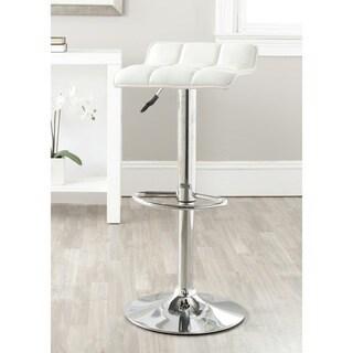 Safavieh 22.4-30.9-inch Lamita White Adjustable Swivel Bar Stool