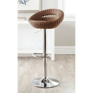 Safavieh Zeba Brown Adjustable Height Swivel 24.8-33.3-inch Adjustable Bar Stool