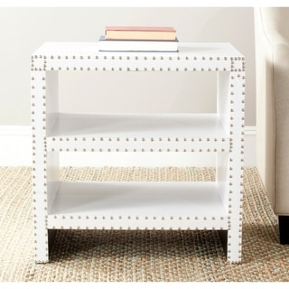 """Safavieh Lacey White Side Table - 23.6"""" x 15.7"""" x 23.6"""""""