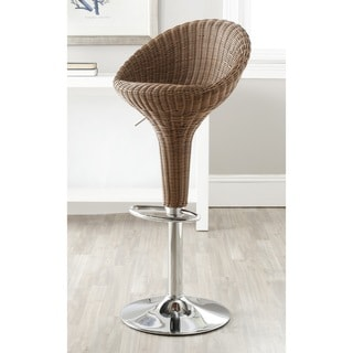 Safavieh Nordika Brown Adjustable Height Swivel 23.2-31.7-inch Adjustable Bar Stool