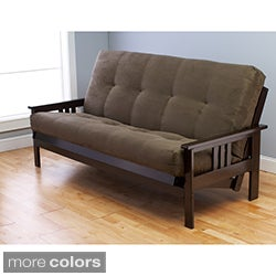 Beli Mont Multi-flex Futon Frame with Microsuede Innerspring Mattress