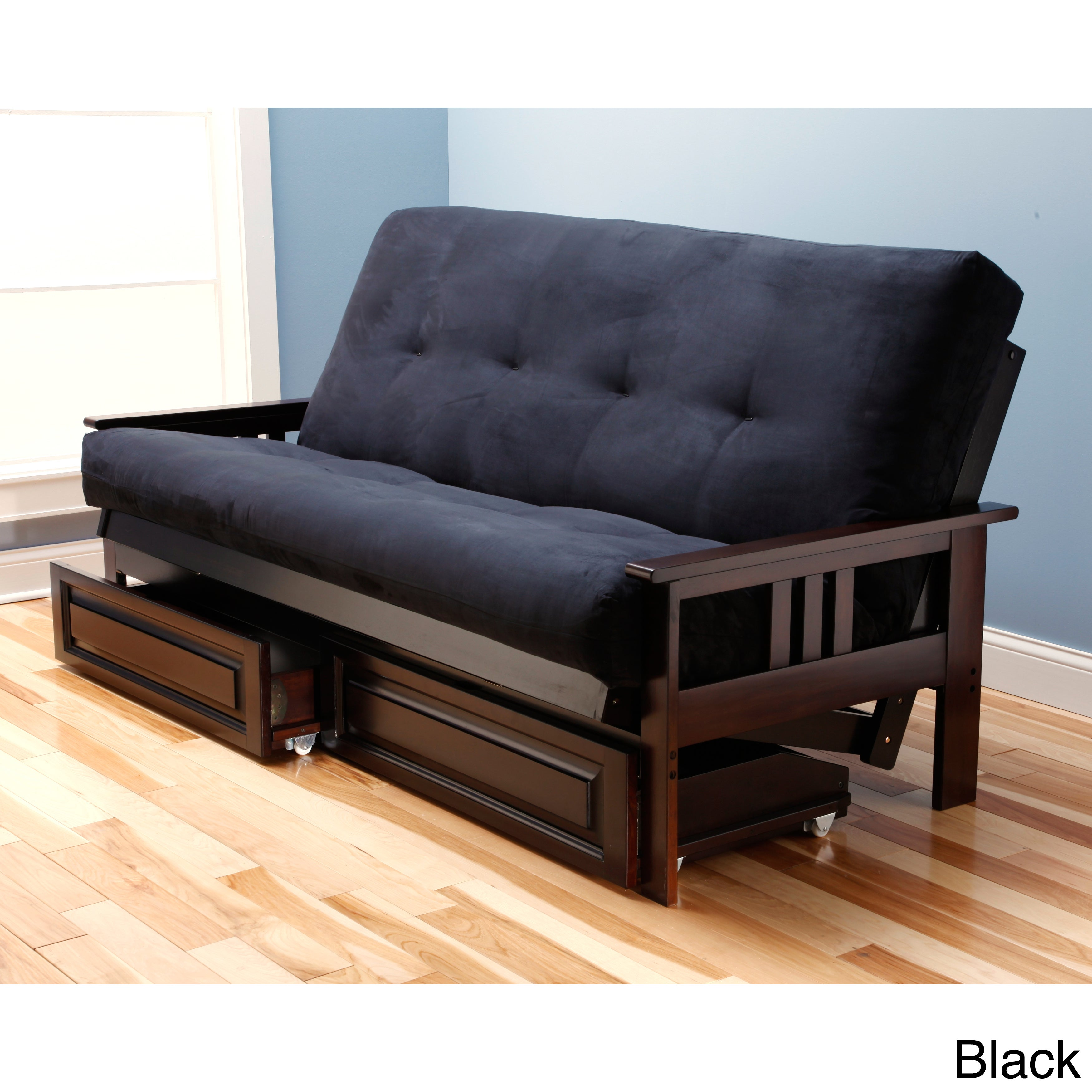 Beli Mont Multi-flex Microsuede Futon with Drawers at Sears.com