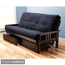 Beli Mont Multi-flex Microsuede Futon with Drawers