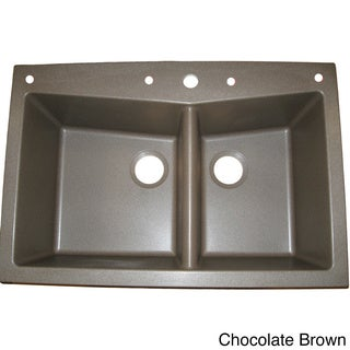 Ukinox Granite 60/ 40 Double-bowl Drop-in Topmount Sink