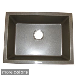 Ukinox Granite Single-bowl Dualmount Sink