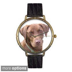 Whimsical Women's Chocolate Labrador Retriever Photo Watch