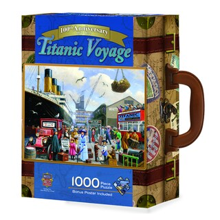Titanic Voyage 1000-piece Suitcase Puzzle