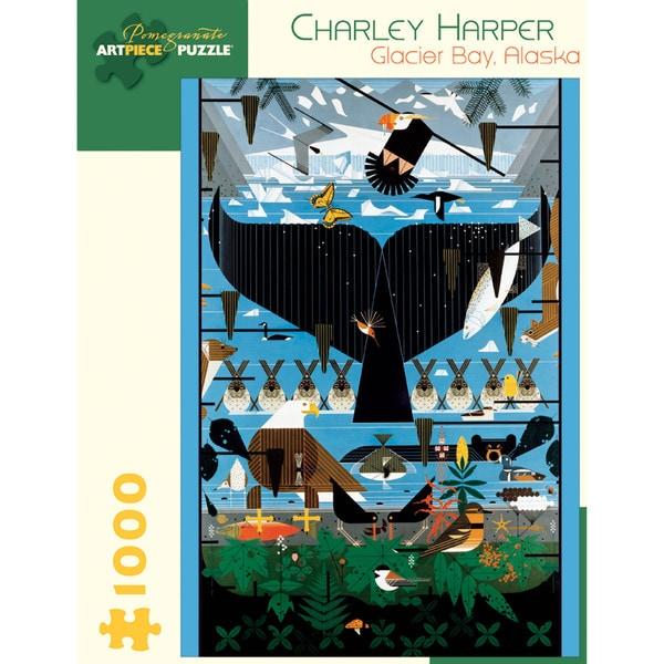 Charley Harper Glacier Bay Alaska 1000-piece Puzzle