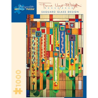 Frank Lloyd Wright Saguaro Glass 1000-piece Puzzle