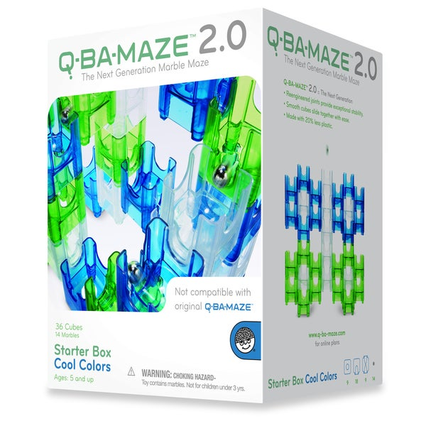 Mindware Q-Ba-Maze 2.0 Starter Box: Cool Colors 10859202