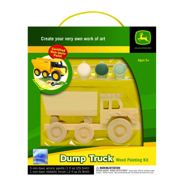 John Deere Dump Truck Wood Craft Kit