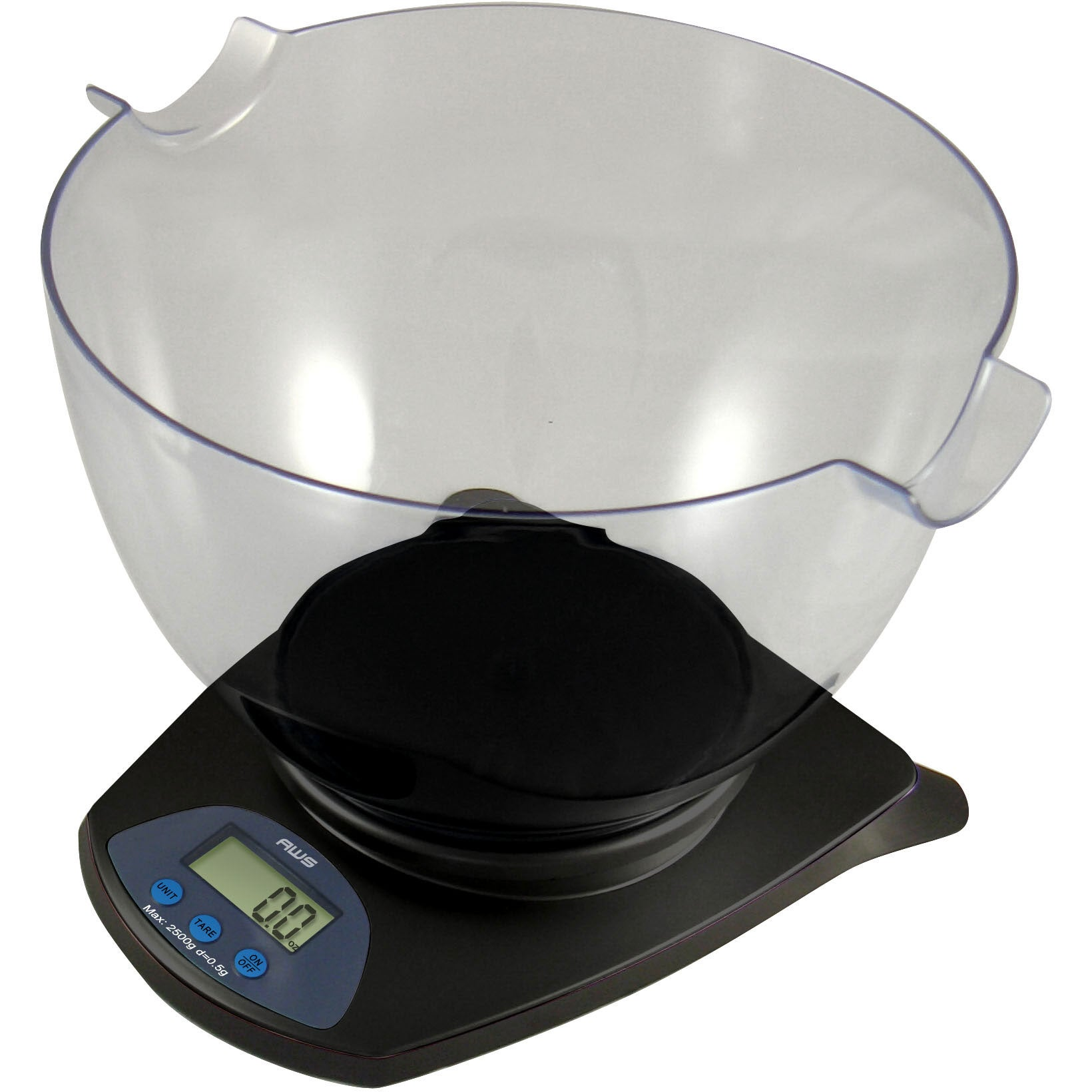 American Weigh Scales American Weigh Black Digital Scale with Bowl