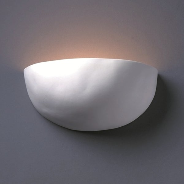 Justice Design Group One-light Zia Ceramic Bisque Wall Sconce