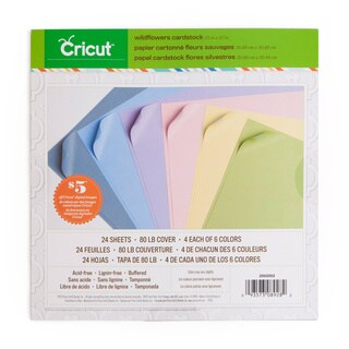 Cricut Wildflowers 12x12-inch Cardstock (Pack of 3)