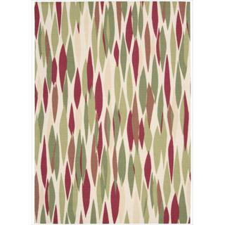 Waverly Sun & Shade Red/ Green Rug (10' x 13')