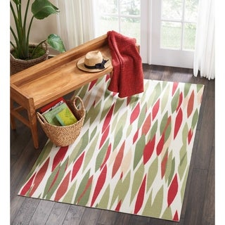 Waverly Sun &amp; Shade Red/ Green Rug (10&#39; x 13&#39;)
