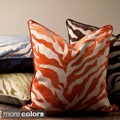Opal Zebra Patterned Decorative Down or Poly Fill Pillow