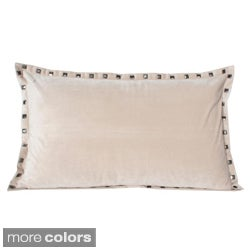 Thro Payton Velvet Studded 20-inch Decorative Pillow