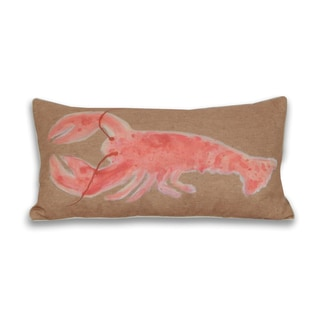 Water Color Lobster 12 x 24-inch Decorative Pillow