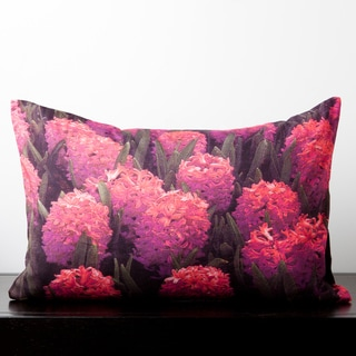 Aubrey Pink Hibiscus Flower 20-inch Decorative Pillow
