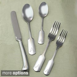 Fenmore Monogrammed 45-piece Stainless Steel Flatware Set