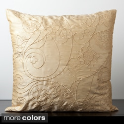Candice Olson Decorative Kale Down Filled or Poly Filled Solid Floral 18-inch Decorative Pillow