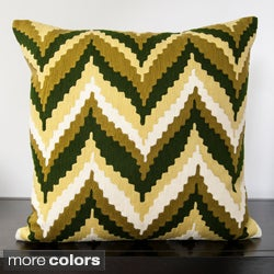 Decorative Keon Chevron Print Down Filled or Poly Filled Decorative Pillow
