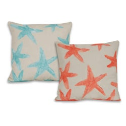 Water Color Starfish 20-inch Decorative Pillow