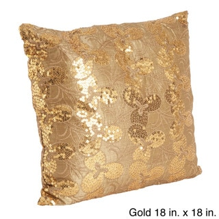 Embroidered & Sequined Decorative Throw Pillow