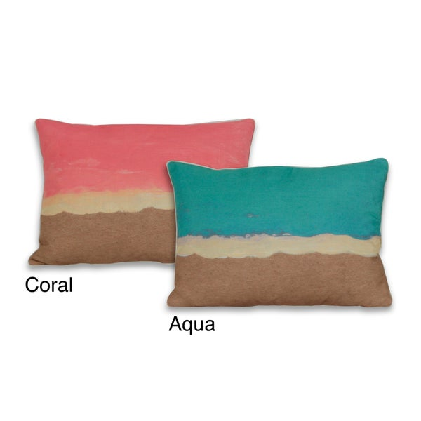 Water Color Sea Shore 14 x 20-inch Pillow