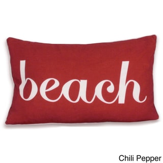 Beach Script Words 12 x 20-inch Pillow